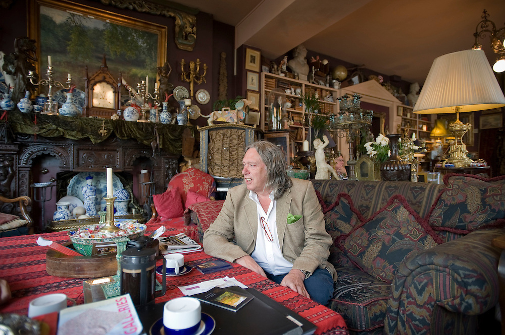 UK. London. Martin Miller, owner of Miller's Residence, a hotel in Notting Hill Gate, in West London..Photo@Steve Forrest/Workers' Photos