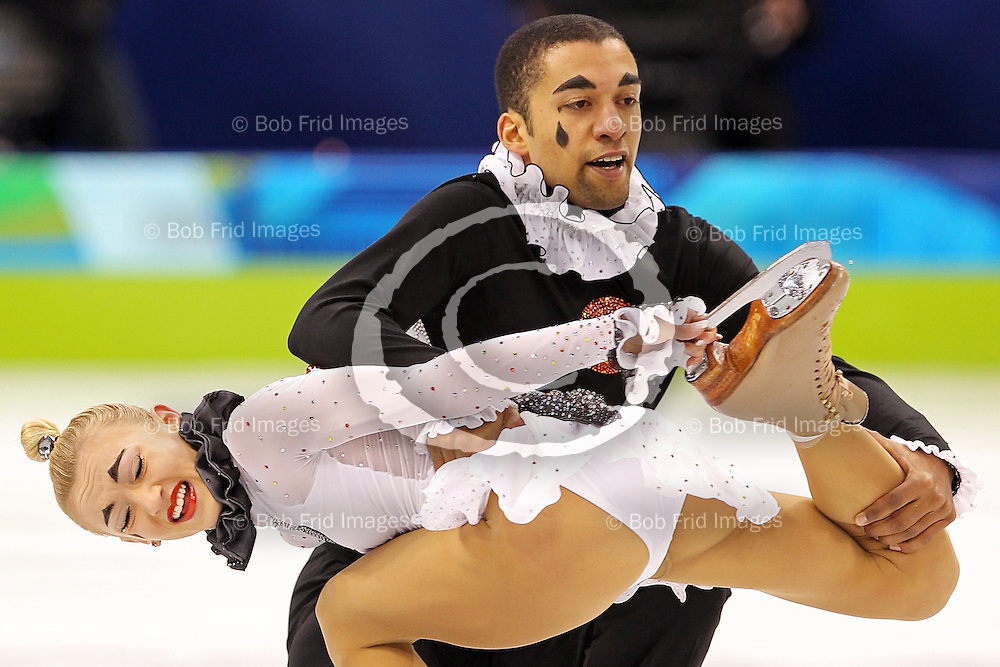 14 February 2010: in second place after the short program are Aliona SAVCHENKO and Robin SZOLKOWY from GER during the Figure Skating Pairs Short Program held at the Pacific Coliseum during the Vancouver 2010 Winter Olympics  in Vancouver,  British Columbia, Canada..