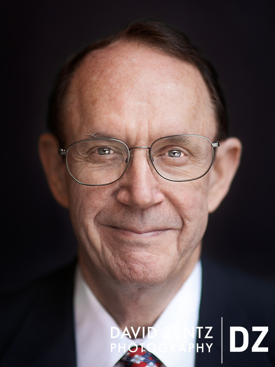 USC President Stephen B. Sample photographed on campus for the Chronicle of Higher Education.