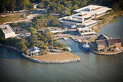 Aerial view of Fort Johnson Marine Resources Center Charleston, SC