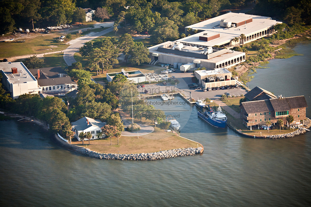 Aerial view of Fort Johnson Marine Resources Center Charleston, SC