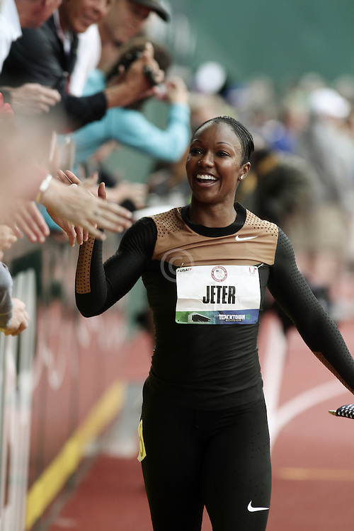Olympic Trials Eugene 2012: women's 200 meters, Carmelita Jeter