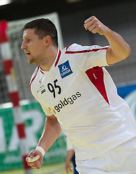 10.06.2015, Olympiahalle, Innsbruck, AUT, EHF Euro Qualifikation, Gruppe 7, Österreich vs Spanien, im Bild Romas Kirveliavicius (AUT) // during the EHF Euro Qualifikation group 7 match between Austria and Spain at Olympiahalle, Innsbruck, Austria on 2015/06/10. EXPA Pictures © 2015, PhotoCredit: EXPA/ Jakob Gruber