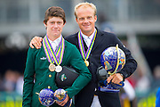 Podium World Championships 5 Years 1. Willem Greve - Garant, 2. Michael Pender - Z Seven Carentina, 3. Michael Pender - Z Seven Canya Dance<br /> FEI World Breeding Jumping Championships for Young Horses 2016<br /> © DigiShots