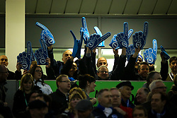 Brighton & Hove Albion fans wave the foam hands as the players enter the stadium - Mandatory by-line: Jason Brown/JMP - 10/03/2017 - FOOTBALL - Amex Stadium - Brighton, England - Brighton and Hove Albion v Derby County - Sky Bet Championship