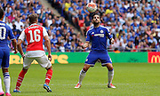 Cesc Fabregas taking the ball into control during the FA Community Shield match between Chelsea and Arsenal at Wembley Stadium, London, England on 2 August 2015. Photo by Michael Hulf.