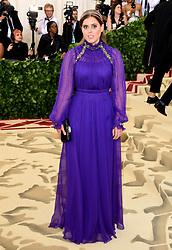 Princess Beatrice of York attending the Metropolitan Museum of Art Costume Institute Benefit Gala 2018 in New York, USA.