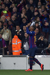 February 6, 2019 - Barcelona, Barcelona, Spain - Malcom of Barcelona celebrates after scoring his sides first goal during the Spanish Cup (King's cup), first leg semi-final match between FC Barcelona and  Real Madrid at Camp Nou stadium on February 6, 2019 in Barcelona, Spain. (Credit Image: © Jose Breton/NurPhoto via ZUMA Press)
