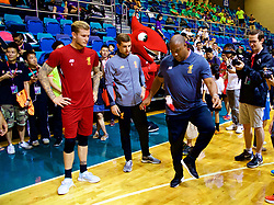 HONG KONG, CHINA - Tuesday, July 18, 2017: Liverpool's John Barnes tries a local keepy-up craze during a Premier League skills kids event at the Macpherson Stadium ahead of the Premier League Asia Trophy 2017. (Pic by David Rawcliffe/Propaganda)