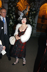 ISABELLA BLOW at the wedding of Clementine Hambro to Orlando Fraser at St.Margarets Westminster Abbey, London on 3rd November 2006.<br />