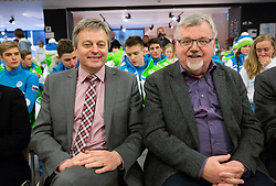 Ciril Globocnik and Janez Fajfar during presentation of Slovenian Young Athletes before departure to EYOF (European Youth Olympic Festival) in Vorarlberg and Liechtenstein, on January 21, 2015 in Bled, Slovenia. Photo by Vid Ponikvar / Sportida