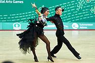 Ashgabat, Turkmenistan - 2017 September 26:<br /> DanceSport competition during 2017 Ashgabat 5th Asian Indoor & Martial Arts Games at Taekwondo DanceSport Arena (TD4) at Ashgabat Olympic Complex on September 26, 2017 in Ashgabat, Turkmenistan.<br /> <br /> Photo by © Adam Nurkiewicz / Laurel Photo Services