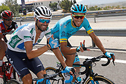 Alejandro Valverde (ESP - Movistar), Omar Fraile (ESP - Astana Pro Team)during the UCI World Tour, Tour of Spain (Vuelta) 2018, Stage 7, Puerto Lumbreras - Pozo Alcon 185,7 km in Spain, on August 31th, 2018 - Photo Luis Angel Gomez / BettiniPhoto / ProSportsImages / DPPI