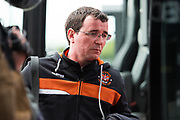 Blackpool Manager Gary Bowyer arriving for the EFL Sky Bet League 2 match between Doncaster Rovers and Blackpool at the Keepmoat Stadium, Doncaster, England on 17 April 2017. Photo by Craig Zadoroznyj.