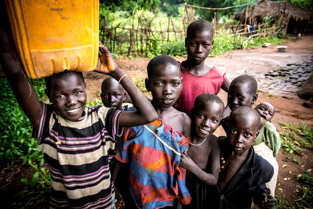 Lopit children in Iboni village.