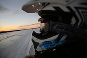 Snowmobile sunset tour with Arctic Lifestyle, Rovaniemi, Lapland, Finland.