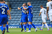 GOAL Ian Henderson celebrates opening the scoring 1-0 during the EFL Sky Bet League 1 match between Rochdale and Peterborough United at Spotland, Rochdale, England on 11 August 2018.