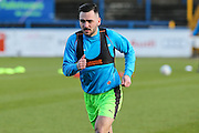 Forest Green Rovers Jake Gosling(31) warming up during the FA Trophy match between Macclesfield Town and Forest Green Rovers at Moss Rose, Macclesfield, United Kingdom on 4 February 2017. Photo by Shane Healey.
