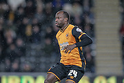 Sone Aluko (Hull City) during the Sky Bet Championship match between Hull City and Cardiff City at the KC Stadium, Kingston upon Hull, England on 13 January 2016. Photo by Mark P Doherty.