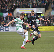 Dundee's Jim McAlister and Celtic&rsquo;s Adam Matthews - Dundee v Celtic, William Hill Scottish Cup fifth round at Dens Park <br /> <br /> <br />  - &copy; David Young - www.davidyoungphoto.co.uk - email: davidyoungphoto@gmail.com