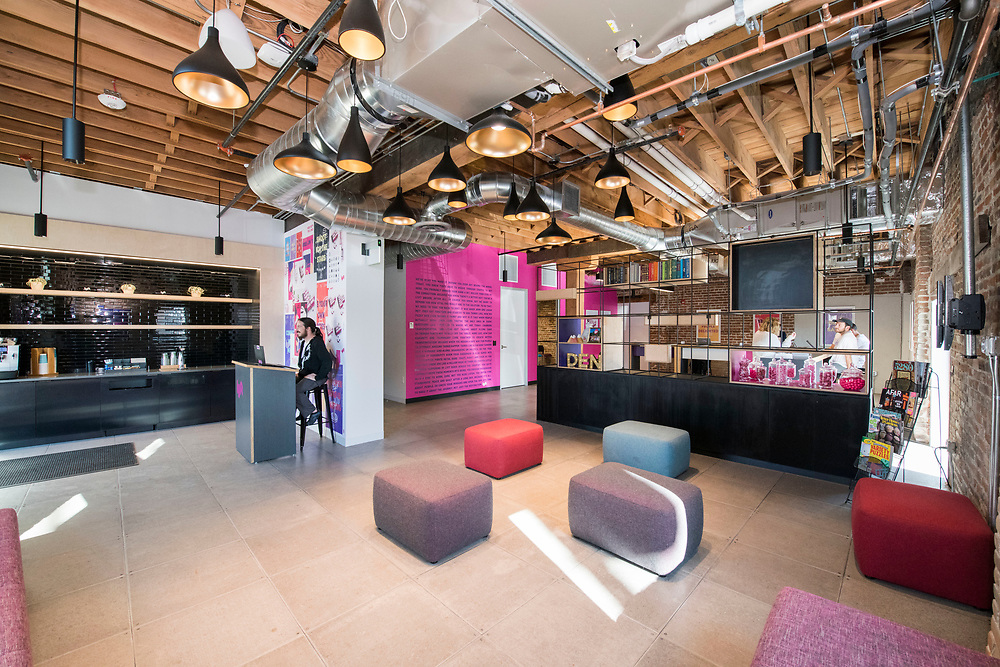 DENVER – NOV. 3. The inside of Lyft's new Denver facility is pictured in the Steam on the Platte complex in Denver's Sun Valley neighborhood. Steam on the Platte is a new and historic reuse space recently developed at 14th and Zuni streets. (Photo by Andy Colwell/Special to The Denver Post)