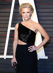 July 19, 2016 - Beverly Hills, California, U.S - Fox Network anchor Megyn Kelly told investigators looking into sexual harassment accusations made by Gretchen Carlson that Fox News chairman and CEO Roger Ailes had harassed her as well. FILE PHOTO: Megan Kelly on the red carpet at the 2016 Vanity Fair Oscar Party held at the Annenberg Center in Beverly Hills, California, Sunday February 28, 2016. (Credit Image: © Prensa Internacional via ZUMA Wire)