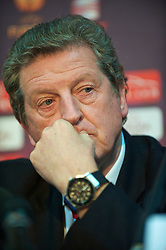 BUCHAREST, ROMANIA - Wednesday, December 1, 2010: Liverpool's manager Roy Hodgson during a press conference at the Stadionul Steaua ahead of the UEFA Europa League Group K match against FC Steaua Bucuresti. (Pic by: David Rawcliffe/Propaganda)