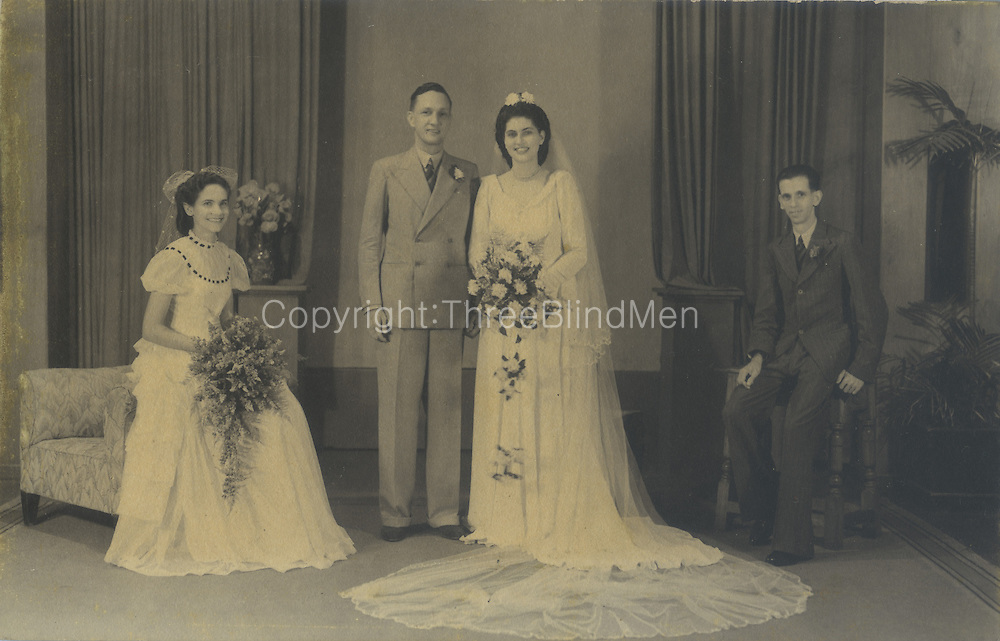Marriage of Maurice Van Der Stratten to Merlyn Labrooy.<br /> Jennifer Ingleton Collection.