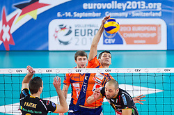 Borislav Petrovic of ACH during volleyball match between ACH Volley and Lube Banca Marche Macerata (ITA) in 5th Leg of Pool D of 2013 CEV Champions League on December 5, 2012 in Arena Stozice, Ljubljana, Slovenia. ACH defeated Macerata 3-1. (Photo By Vid Ponikvar / Sportida)