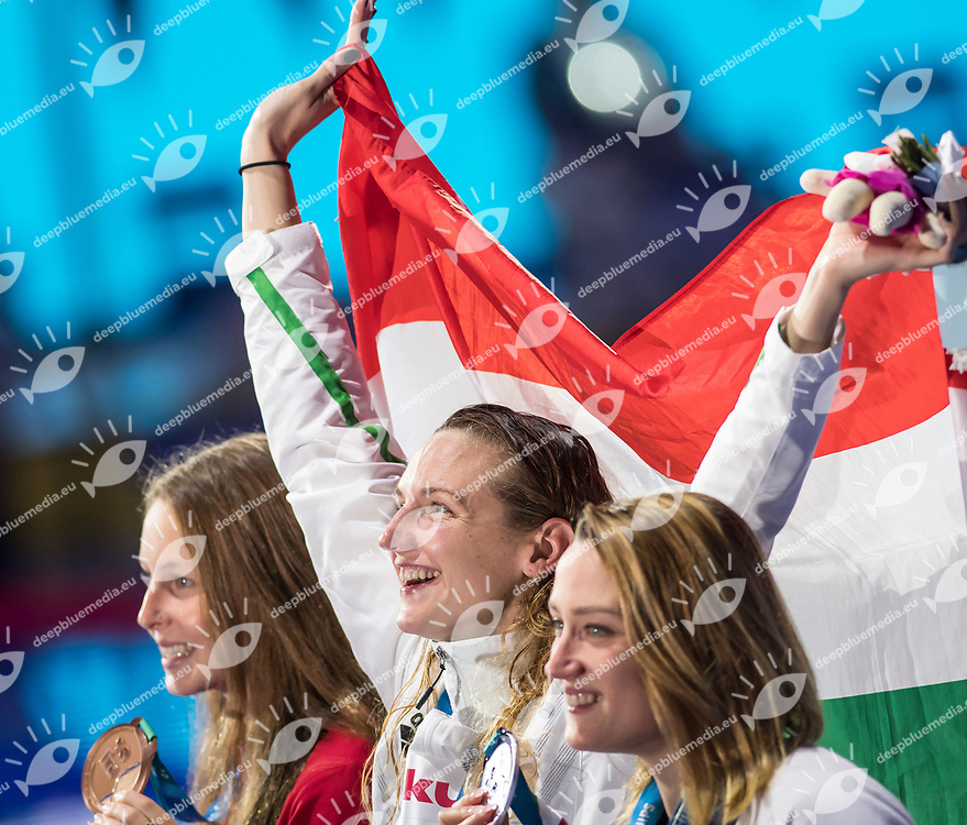 PICKREM Sydney CAN Bronze Medal <br /> HOSSZU Katinka HUN Gold Medal <br /> BELMONTE Mireia ESP Silver Medal <br /> Women's 400m Individual Medley <br /> Swimming  <br /> 30/07/2017 <br /> XVII FINA World Championships Aquatics<br /> Duna Arena Budapest Hungary <br /> Photo Andrea Staccioli/Deepbluemedia/Insidefoto