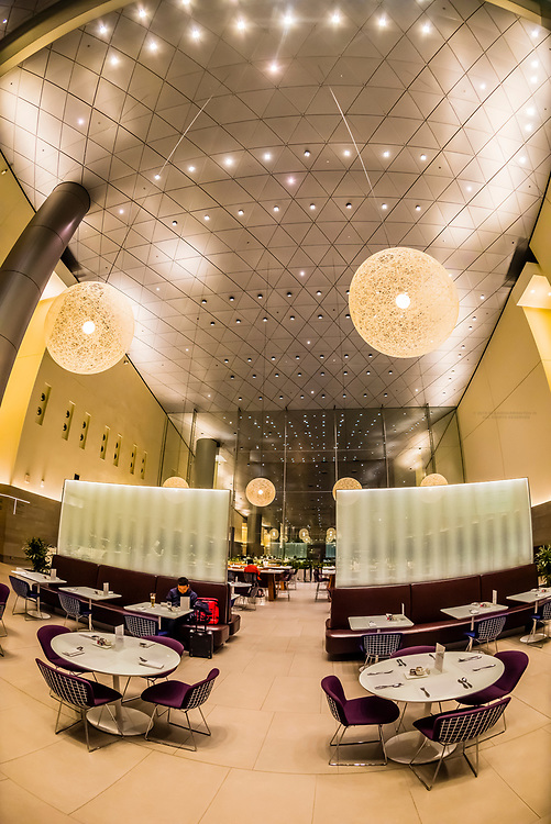 The 10,000 sq. meter (110,000 sq. ft.) Al Mourjan Business Lounge at Hamad International Airport, Doha, Qatar.