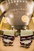 The 10,000 sq. meter (110,000 sq. ft.) Al Mourjan Business Lounge at Hamad International Airport, Doha, Qatar.