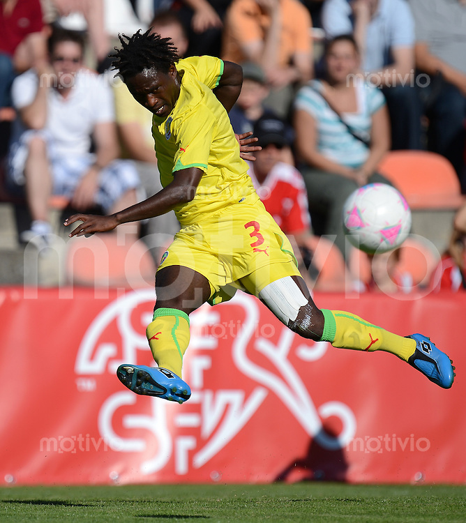 Olympia 2012 London  Fussball  Maenner   17.07.2012 Testspiel:  Schweiz - Senegal Victor Binda (Senegal)