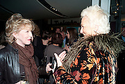 PATRICIA HODGE; JEANNE MANDRY, Enlightenment, Gala night, Hampstead Theatre, Swiss Cottage, London. 5 October 2010. -DO NOT ARCHIVE-© Copyright Photograph by Dafydd Jones. 248 Clapham Rd. London SW9 0PZ. Tel 0207 820 0771. www.dafjones.com.