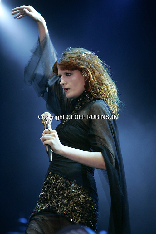 PIC BY GEOFF ROBINSON PHOTOGRAPHY 07976 880732... PIC SHOWS FLORENCE WELCH OF FLORENCE AND THE MACHINE  AT  THE V FESTIVAL  AT HYLANDS PARK,CHELMSFORD,ESSEX ON SATURDAY 21ST AUGUST...The V Festival  takes place on Saturday and Sunday in Hylands Park, Chelmsford and Weston Park, Staffordshire. ..The festival will be headlined by Kasabian and Kings of Leon while other acts lined up to perform include The Prodigy, Faithless, Editors, Paul Weller, Stereophonics, Plan B and Tinie Tempah..
