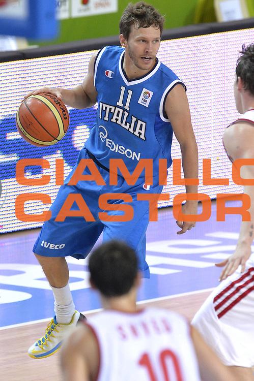 DESCRIZIONE : Capodistria Koper Slovenia Eurobasket Men 2013 Preliminary Round Russia Italia Russia Italy<br /> GIOCATORE : Travis Diener<br /> CATEGORIA : Palleggio<br /> SQUADRA : Italia<br /> EVENTO : Eurobasket Men 2013<br /> GARA : Russia Italia Russia Italy<br /> DATA : 04/09/2013<br /> SPORT : Pallacanestro&nbsp;<br /> AUTORE : Agenzia Ciamillo-Castoria/GiulioCiamillo<br /> Galleria : Eurobasket Men 2013 <br /> Fotonotizia : Capodistria Koper Slovenia Eurobasket Men 2013 Preliminary Round Russia Italia Russia Italy<br /> Predefinita :