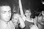 Crowd in their own world, Dream FM Pirate Radio Benefit, Labyrinth Dalston, London, 1994.