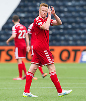 12/04/15 SCOTTISH PREMIERSHIP<br /> KILMARNOCK v ABERDEEN<br /> RUGBY PARK - KILMARNOCK<br /> Aberdeen's Adam Rooney applauds the fans at full-time