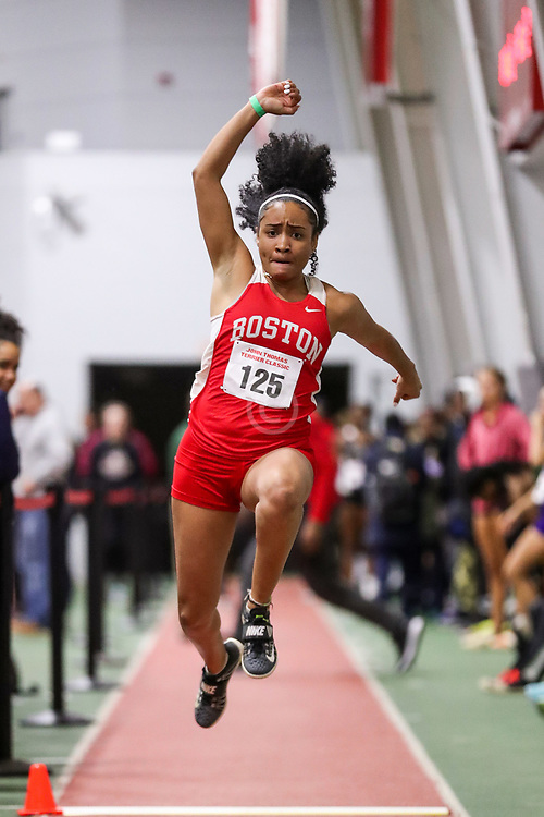 long jump, Boston U, BU Terrier Indoor track meet