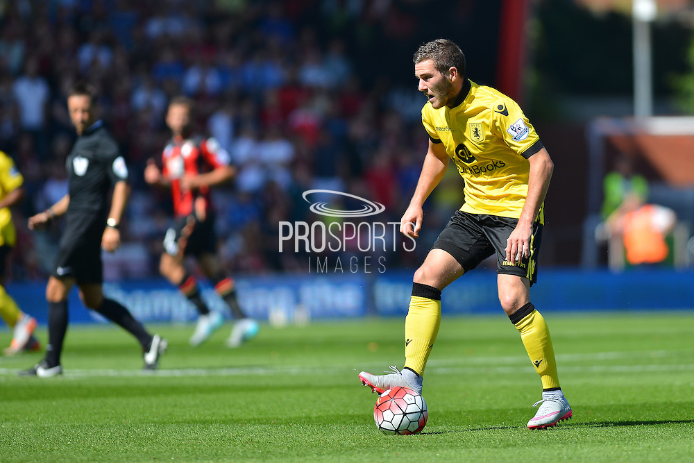 Aston Villa's Chris Herd during the Barclays Premier League match between Bournemouth and Aston Villa at the Goldsands Stadium, Bournemouth, England on 8 August 2015. Photo by Mark Davies.