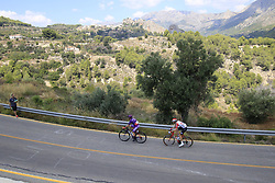 The early breakaway featuring Angel Madrazo Ruiz (ESP) Burgos-BH and Sander Armee (BEL) Lotto-Soudal on the Cat 2 climb to Puerto de Confrides during Stage 2 of La Vuelta 2019 running 199.6km from Benidorm to Calpe, Spain. 25th August 2019.<br /> Picture: Eoin Clarke | Cyclefile<br /> <br /> All photos usage must carry mandatory copyright credit (© Cyclefile | Eoin Clarke)