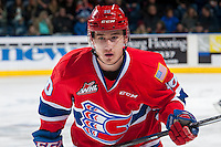 KELOWNA, CANADA - JANUARY 4: Ethan McIndoe #10 of the Spokane Chiefs skates against the Kelowna Rockets on January 4, 2017 at Prospera Place in Kelowna, British Columbia, Canada.  (Photo by Marissa Baecker/Shoot the Breeze)  *** Local Caption ***