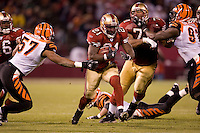 15 December 2007: Runningback Frank Gore of the San Francisco 49ers runs the ball against the Cincinnati Bengals during the second half of the 49ers 20-13 victory over the Bengals at Monster Park in San Francisco.