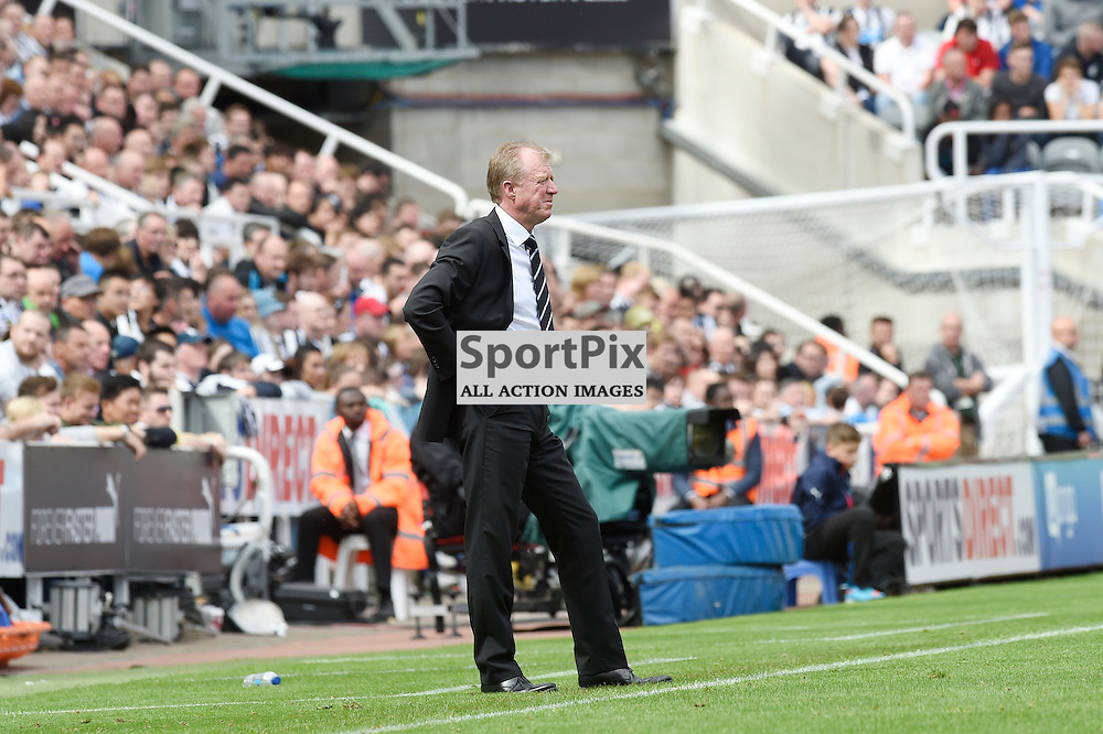 Steve McClaren in the Newcastle United v Arsenal Barclays Premier League match at St James' Park Newcastle 09 August 2015<br /> <br /> (c) Greg Macvean / SportPix.org.uk
