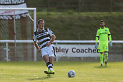 Forest Green Rovers Scott Laird passes the ball forward during the Pre-Season Friendly match between Shortwood United and Forest Green Rovers at Meadowbank Ground, Nailsworth, United Kingdom on 14 July 2017. Photo by Shane Healey.