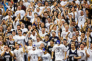 STORRS, CT - Feb. 11, 2009 -UConn fans cheer towards the end of Wednesday's game against Syracuse at Gampel Pavilion. The Huskies won, 63-49..Josalee Thrift Photo