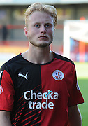 Man of the match Christian Scales looking displeased with the result after the Sky Bet League 2 match between Crawley Town and Yeovil Town at the Checkatrade.com Stadium, Crawley, England on 19 September 2015. Photo by Michael Hulf.