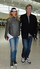 MAY 29 2014 Goldie Hawn and Kurt Russell depart Heathrow Airport for Turkey