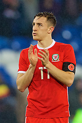 CARDIFF, WALES - Tuesday, November 14, 2017: Wales' Tom Lockyer after the international friendly match between Wales and Panama at the Cardiff City Stadium. (Pic by David Rawcliffe/Propaganda)