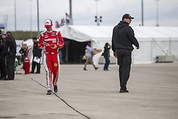 October 19, 2018 - Kansas City, Kansas, United States of America - Ryan Reed (16) hangs out in the garage during practice for the Kansas Lottery 300 at Kansas Speedway in Kansas City, Kansas. (Credit Image: © Justin R. Noe Asp Inc/ASP via ZUMA Wire)
